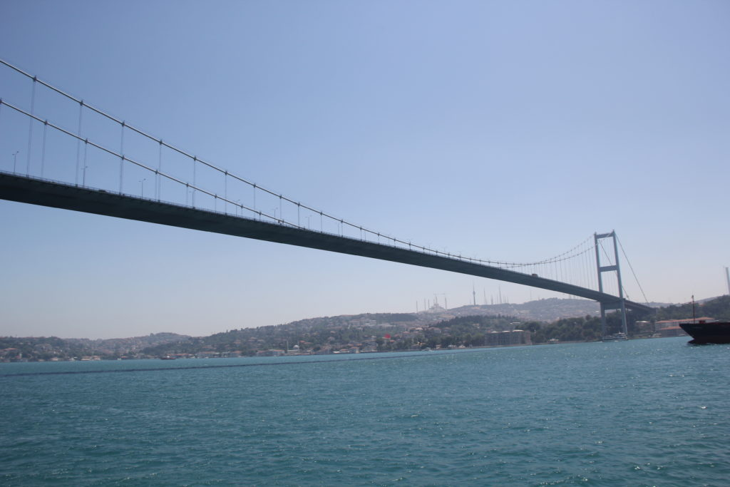 The bridge connecting European Turkey and Asian Turkey