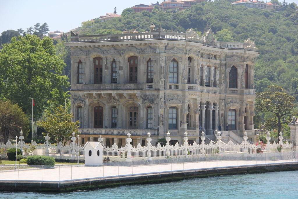 The Dolmabahce palace on the Asian side.