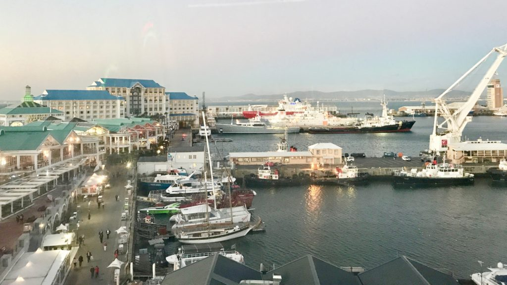 View of the Water Front from the Cape Wheel just above The Harbour restaurant